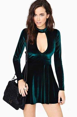 Nasty Gal For Love & Lemons Anna Velvet Dress - Emerald