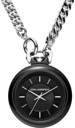 Karl Lagerfeld Long Chain Watch, 40mm