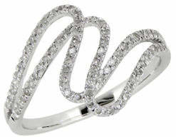 Tag Heuer FINE JEWELLERY 14K White Gold Ring with 0.25 Total Carat Weight Diamonds