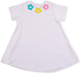 Florence Eiseman Flower Pullover Cover-Up, White, 2T-4T