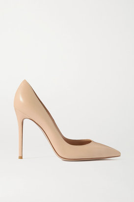 Gianvito Rossi 105 Leather Pumps - Beige