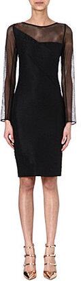 Roland Mouret Magnolia sheer-sleeved dress
