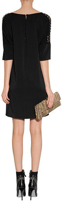 Versace Black Laced Dolman Sleeve Dress