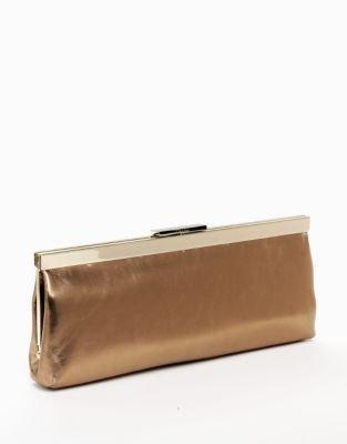 Calvin Klein Matte Leather Clutch Bag