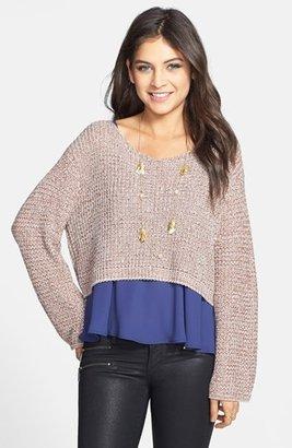 Rubbish Oversized Crop Pullover (Juniors)