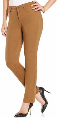 Style & Co Petite Slim-Leg Tummy-Control Jeans, Only at Macy's $49 thestylecure.com