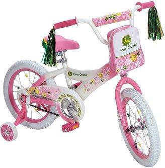 """John Deere 16"""" Girls Bike - Pink"""