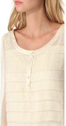 Haute Hippie Wide Pleat Shirtdress