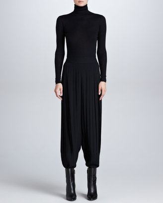 Ralph Lauren Dmitri Pleated Jersey Pants, Black