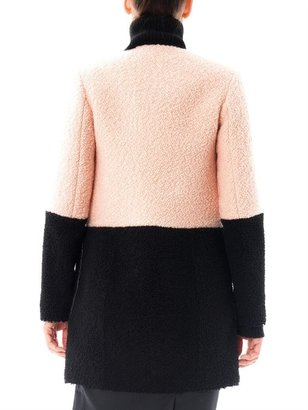 Drome Bi-colour shearling coat