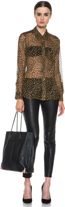 Equipment Brett Distressed Hyde Silk Blouse in Rubber