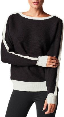 Blanc Noir Intercept Contrast-Trim Sweater