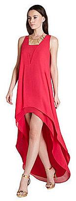 BCBGMAXAZRIA Ivana Tiered Hi-Low Dress
