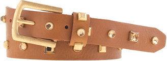 J.Crew Jewel and stud leather belt