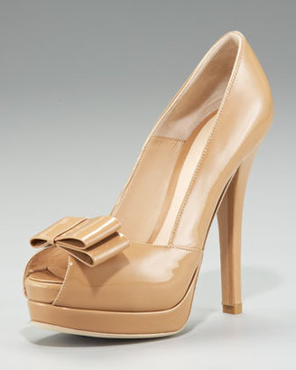 Fendi Deco Double-Platform Bow Pump