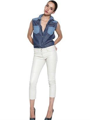 American Retro Sleeveless Cotton Denim Shirt
