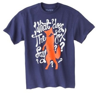Fox What Does the Say? Boys Graphic Tee - Navy