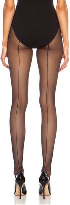 Wolford Individual 10 Back Seam Polyamide-Blend Tights in Black | FWRD