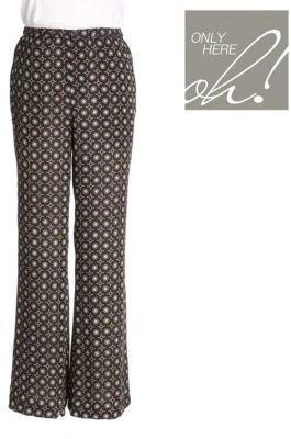 Lord & Taylor Printed Silk Pajama Pants