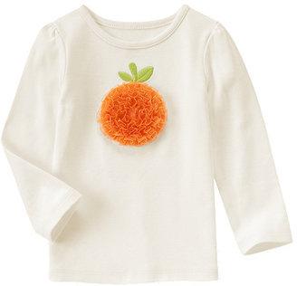 Gymboree Long Sleeve Ruffled Pumpkin Tee