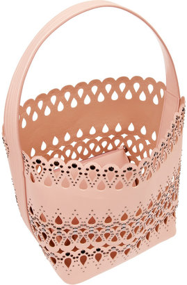 Alaia Studded laser-cut leather tote