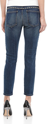 Current/Elliott The Skinny Cropped Jeans in Brass Stud