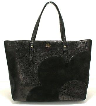 Orla Kiely Black Leather Sparkle Tillie - Black