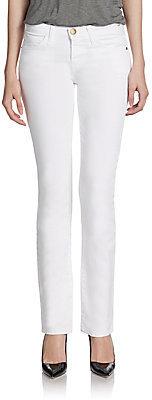 Current/Elliott Straight-Leg Slim Jeans