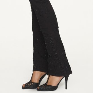 Ralph Lauren Black Label Denim Beaded Skinny Jean