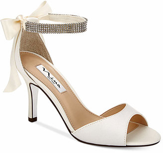 Nina Vinnie Two-Piece Evening Sandals $99 thestylecure.com