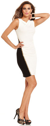 GUESS by Marciano Dress, Sleeveless High-Neck Colorblocked Zipper