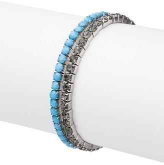 LOFT Rhinestone Stretch Bracelet Set
