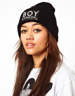 Boy London Patch Beanie Hat