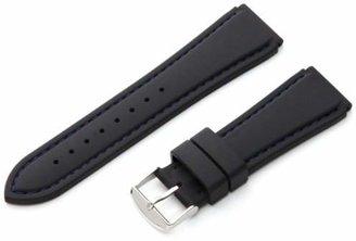 Hadley Roma Hadley-Roma Men's MS3345RF 220 22mm Genuine Silicone Diver Sport Watch Strap