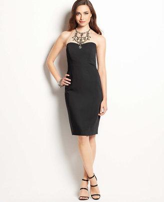 Ann Taylor Petite Jeweled Necklace Halter Dress
