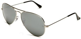 Ray-Ban RB3025 Aviator Large Metal Sunglasses 58 mm, Non-Polarized, Silver/Silver Mirror