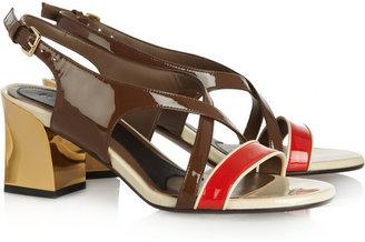 Marni Color-block patent-leather sandals