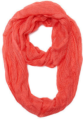 With Love From CA Coral Textured Scarf