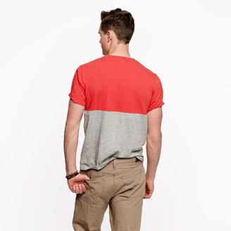 J.Crew Colorblock pocket tee