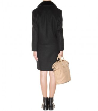 Givenchy Wool coat with mink collar