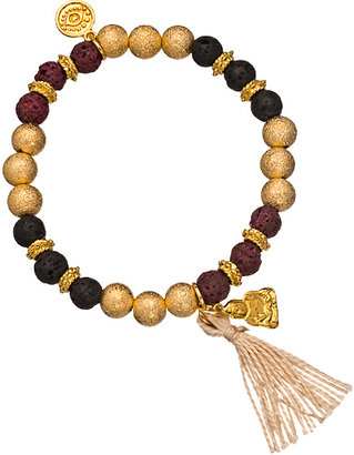 Blee Inara Black Brown and Gold Beaded Stretch Bracelet