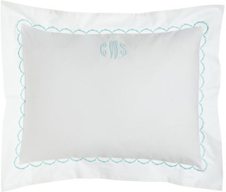 Matouk Standard Scallops Embroidered Percale Sham