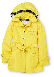 London Fog Girls' 7-16 Hooded Trench Coat