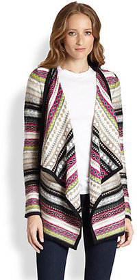 Design History Stripe-Patterned Draped Cardigan