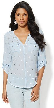 New York & Co. Mercer Soft Shirt - Foil Dot