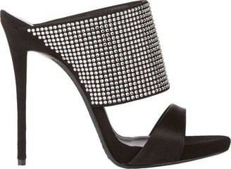 Giuseppe Zanotti Women's Crystal-Embellished Slide Sandals-Silver