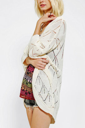 Urban Outfitters Staring At Stars Teardrop Pointelle Cardigan