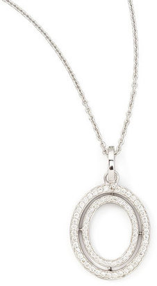 Ivanka Trump Signature Small Oval Diamond Pendant Necklace, 18""