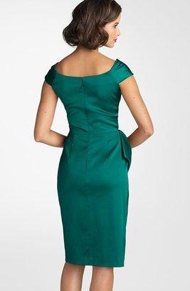 Maggy London Stretch Satin Sheath Dress