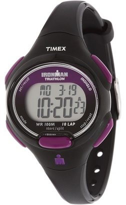 Timex - Sport Ironman Black and Purple Mid Size 10 Lap Watch Watches $45 thestylecure.com